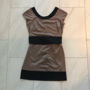 Dynamite Black & Tan Dress